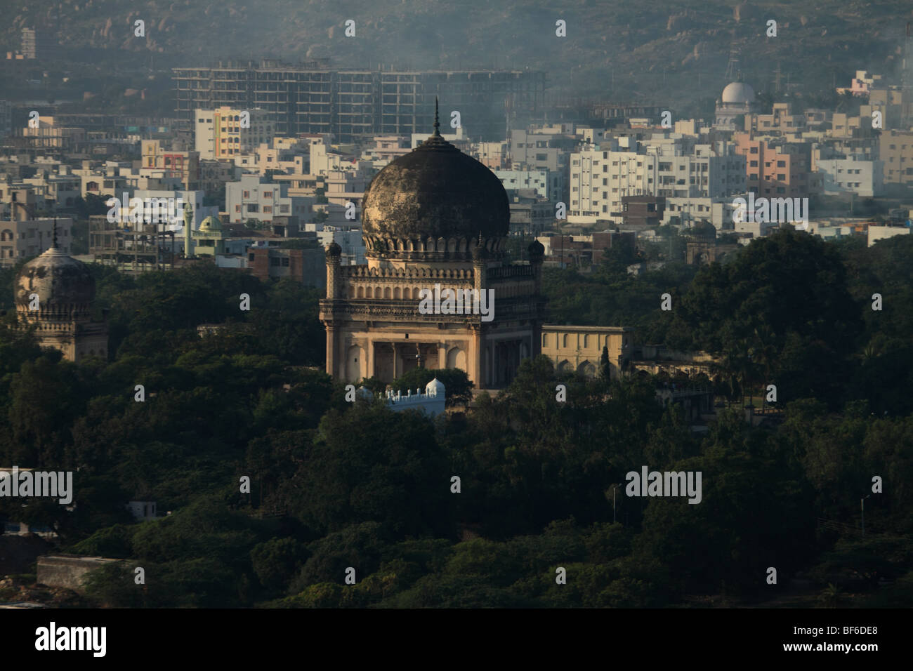 Qutab Tombs taken from Golconda Fort - Stock Image