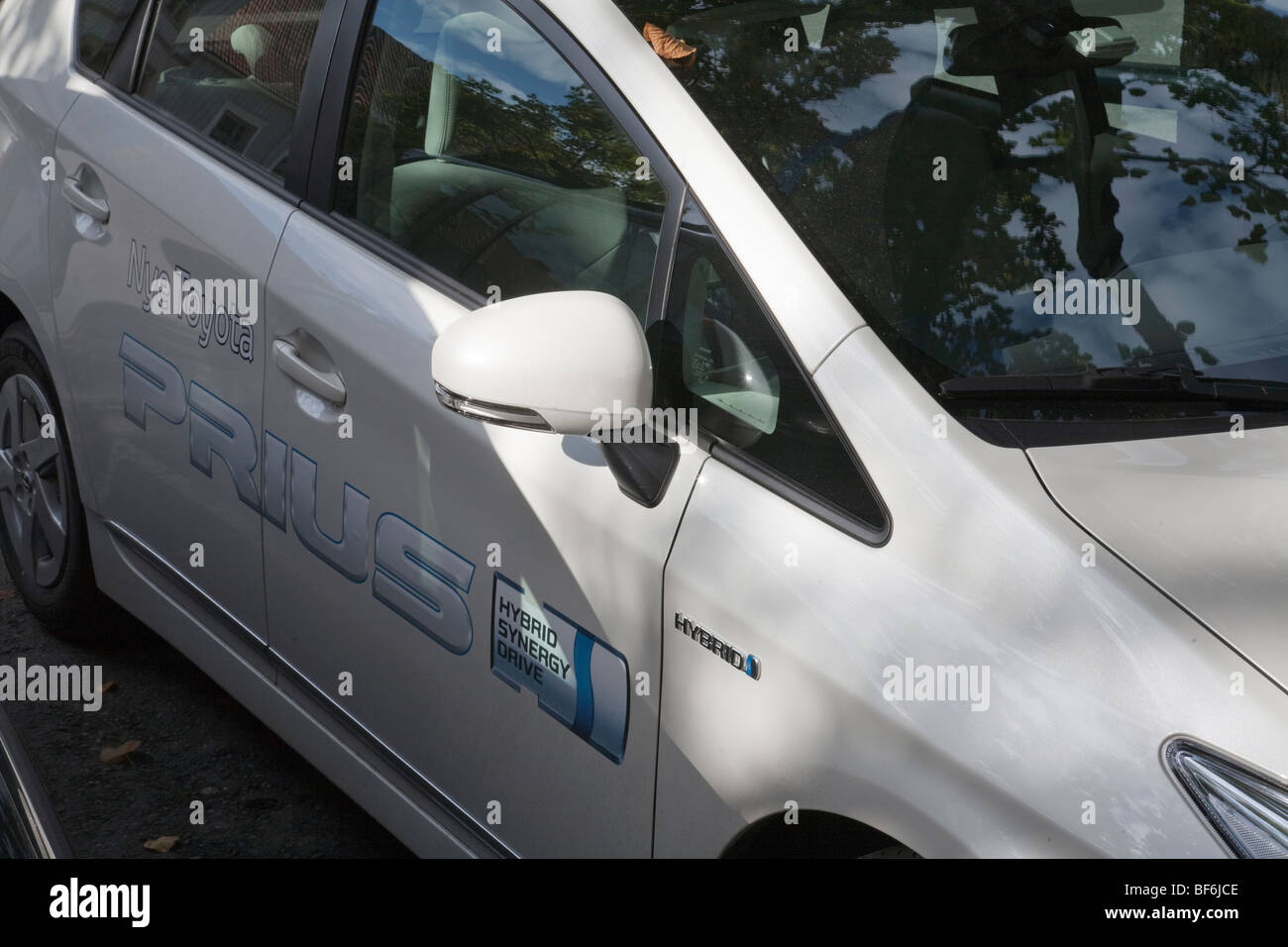 car toyota hybrid car - Stock Image