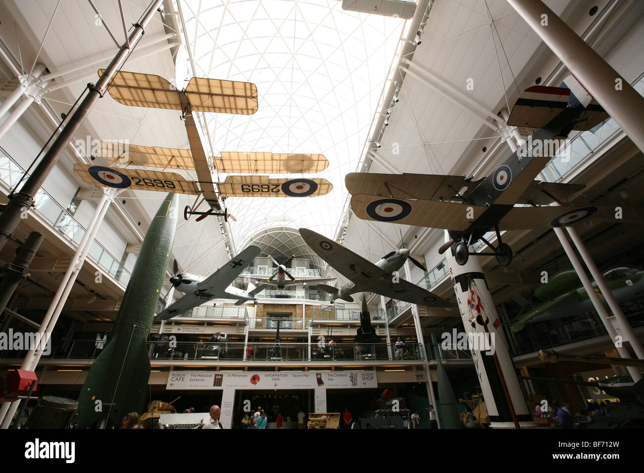 Interior of The Imperial War Museum, London UK 7/1/2009 Stock Photo