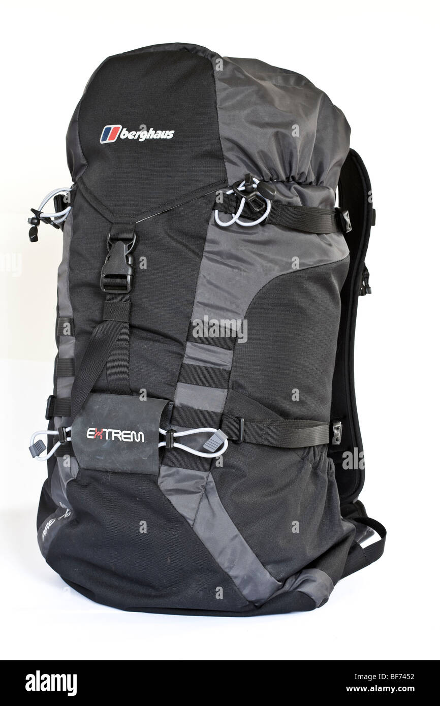 Berghaus Extrem 45 litre technical backpack cutout - Stock Image