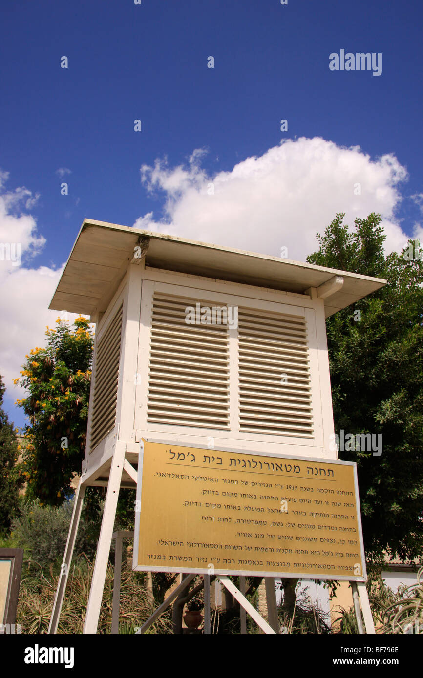 Israel, Shephelah, the meteorological station at the Salesian Monastery in Beit Gemal, the first in the country - Stock Image