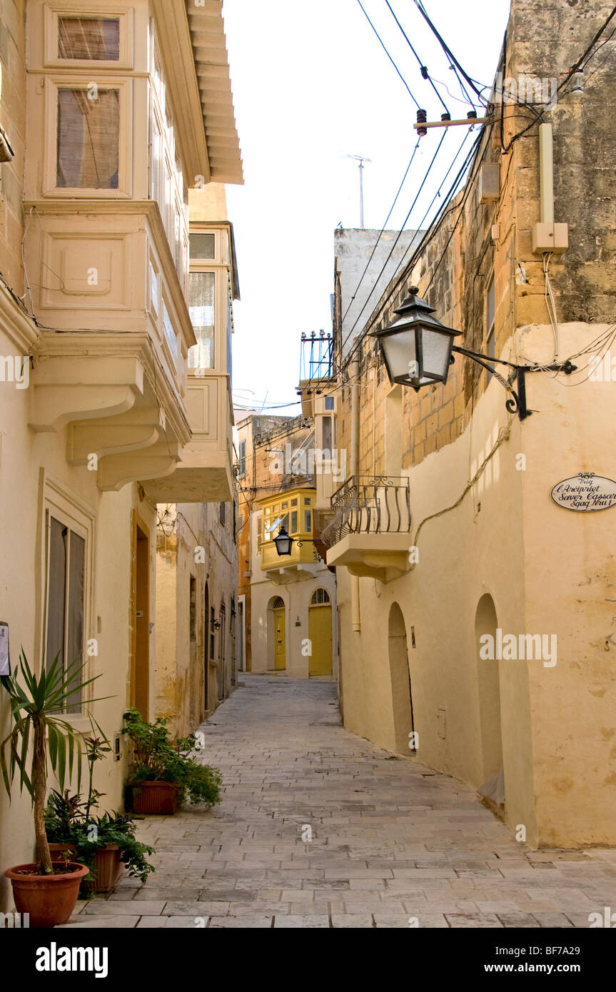 Victoria Rabat Gozo old fortified city town Malta - Stock Image