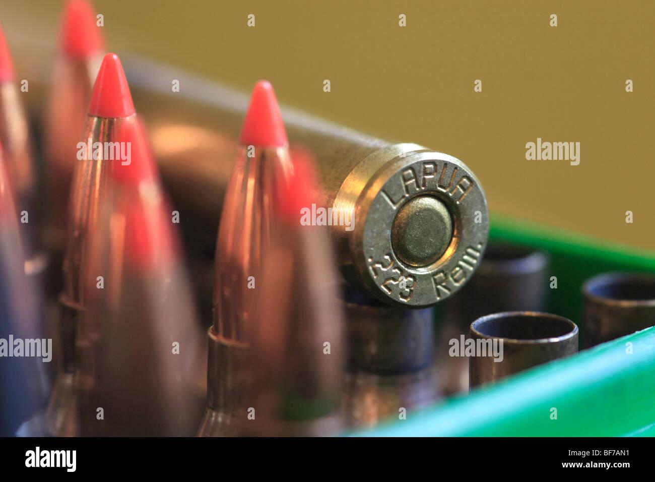 .223 Ballistic Tip Ammunition - Stock Image