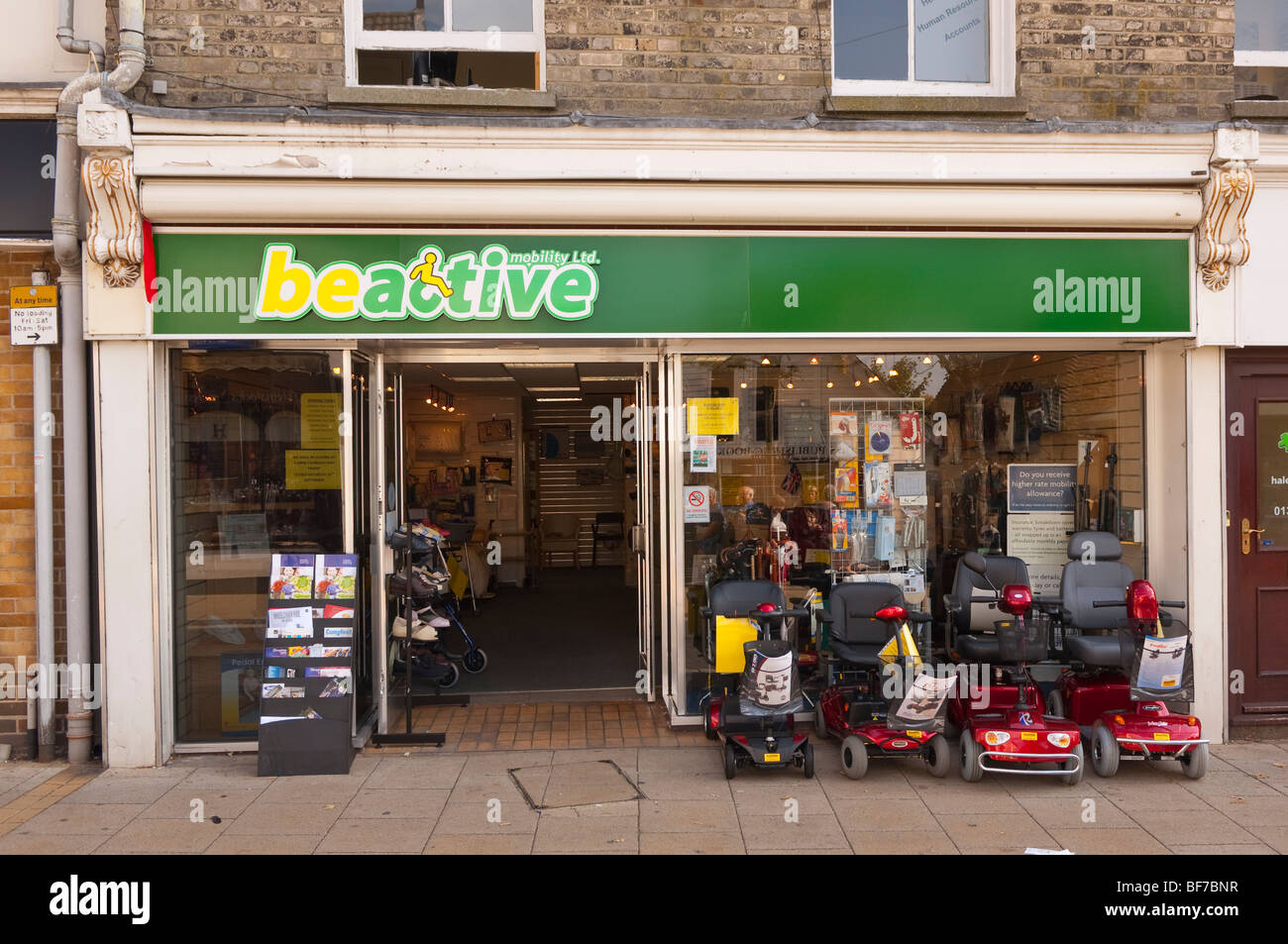 The beactive mobility ltd. mobility shop store in Diss,Norfolk,Uk - Stock Image