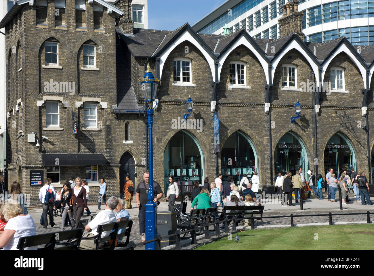 The gift shop outside the Tower of London, London E1 Stock Photo
