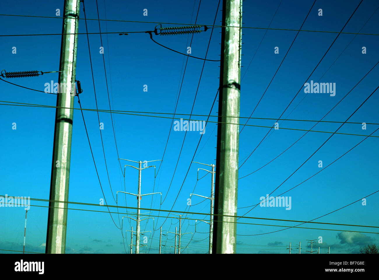 High Voltage wires - Stock Image