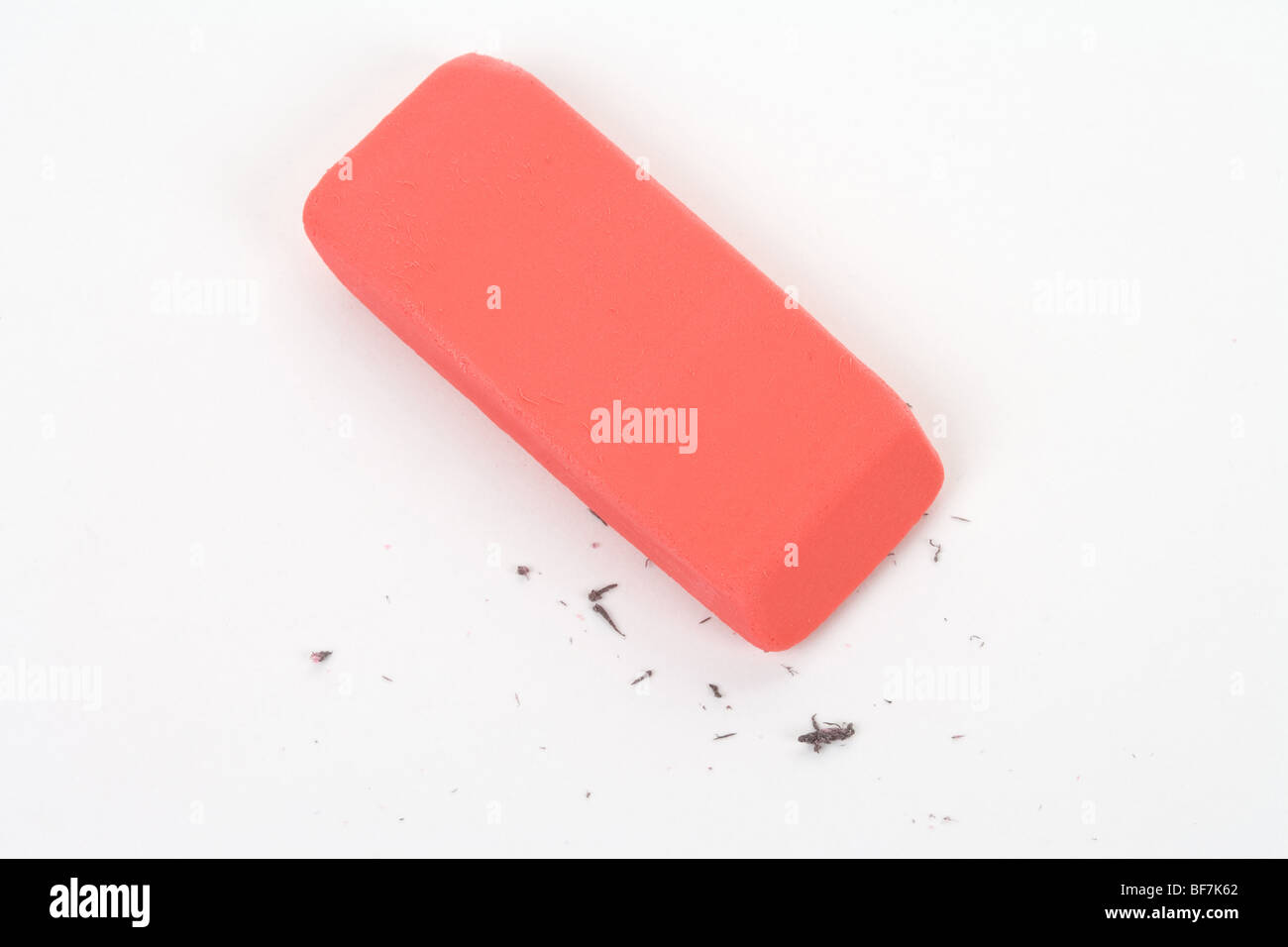 Eraser close up shot, concept of making change - Stock Image