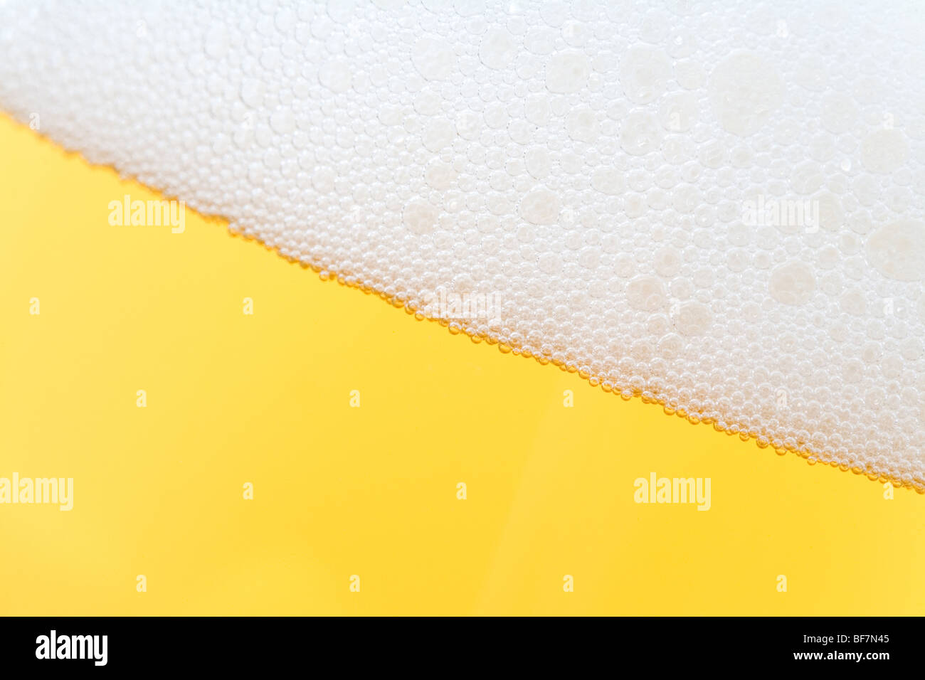 Beer close up shot for background use - Stock Image