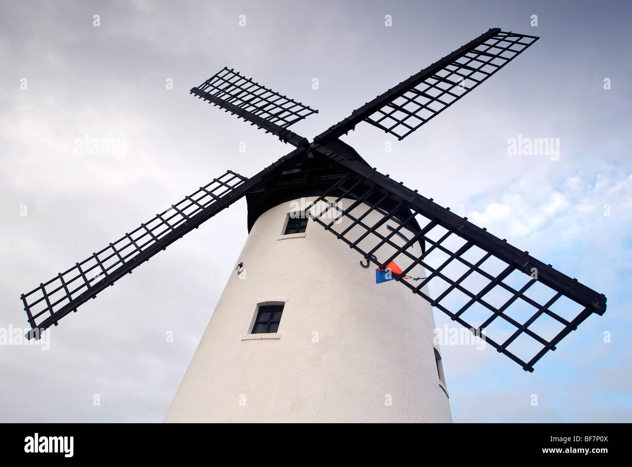 The windmill on the seafront at Lytham St. Annes in Lancashire. - Stock Image