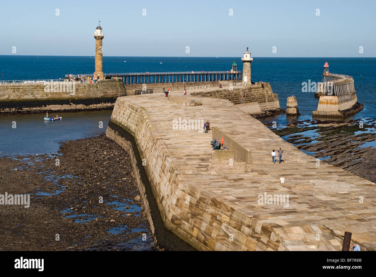 Whitby Harbour - Stock Image