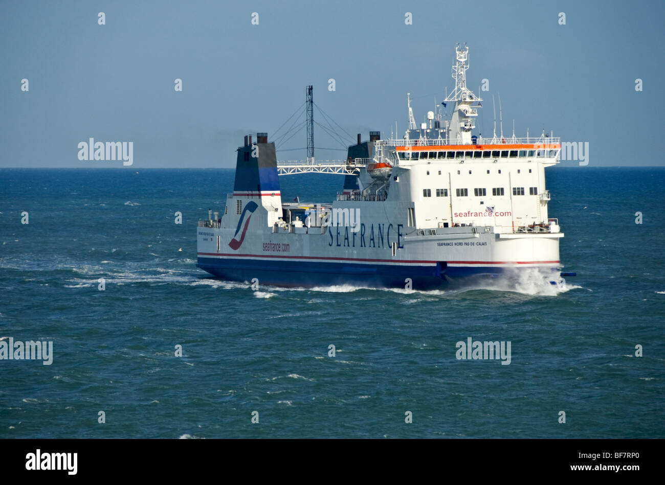 Seafrance ferry Seafrance Nord-Pas-De-Calais arrives at Dover in England - Stock Image