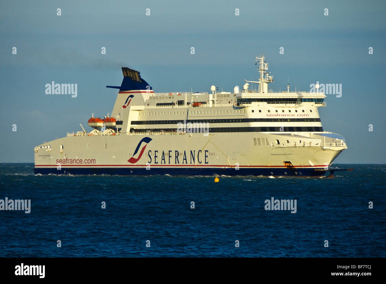 Seafrance ferry Seafrance Moliere arrives at Dover in England - Stock Image