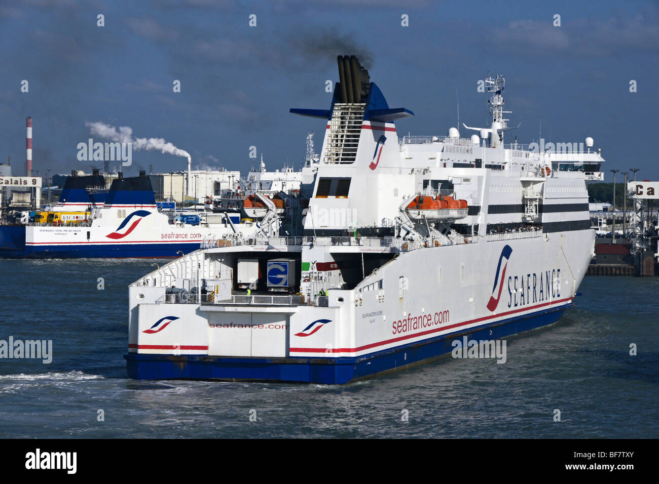 Seafrance ferries Seafrance moliere and Seafrance Nord-Pas-De-Calais at Calais - Stock Image