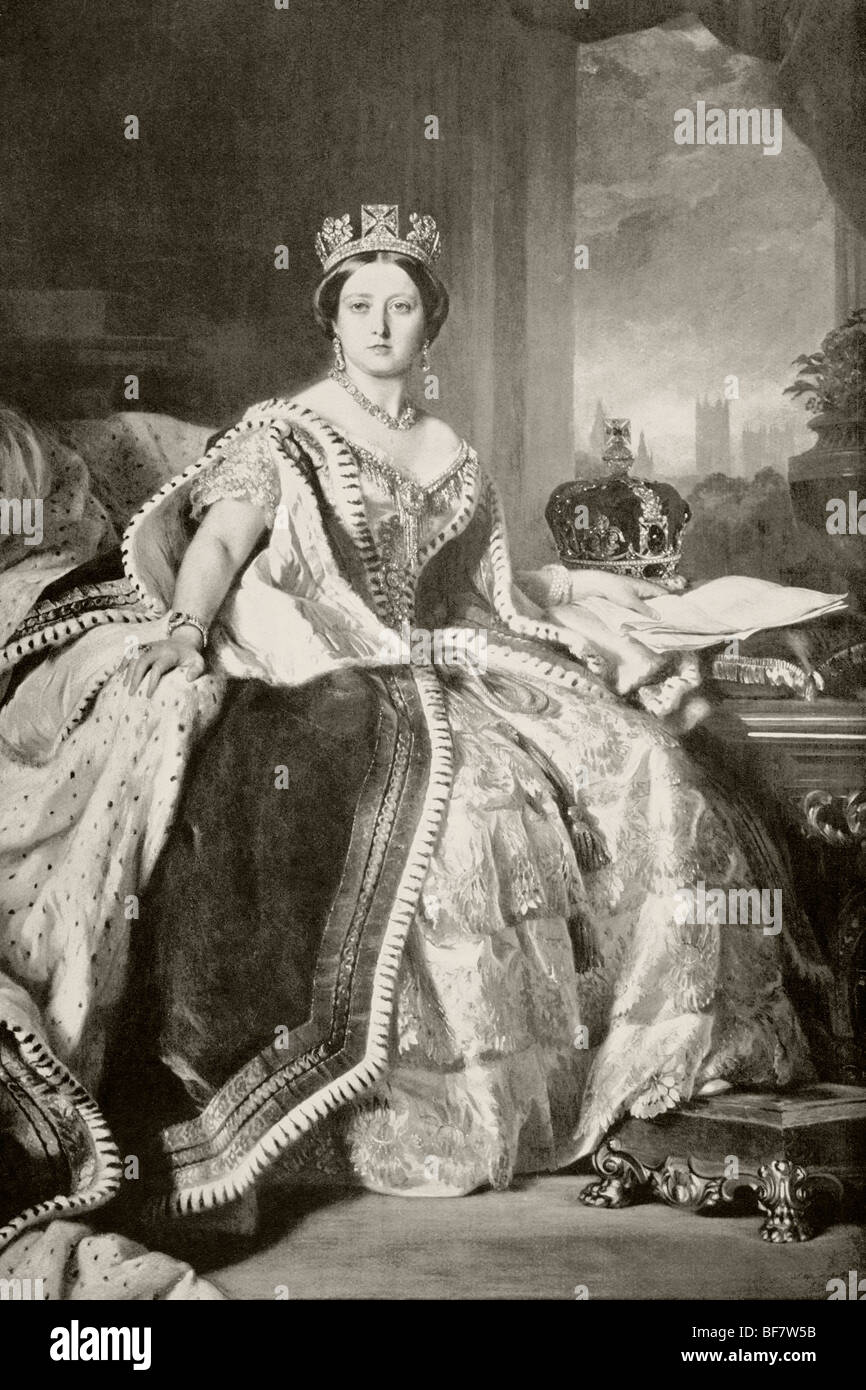 Queen Victoria 1819 to 1901. - Stock Image