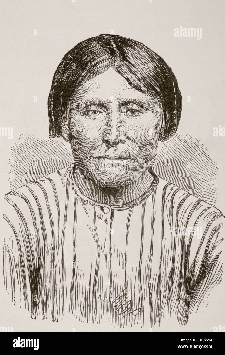 Kintpuash, known as Captain Jack circa 1837 to 1873. Chief of the American Indian Modoc tribe of California and - Stock Image