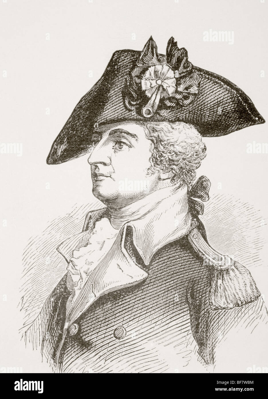Anthony Wayne 1745 to 1796. United States Army general and statesman. - Stock Image