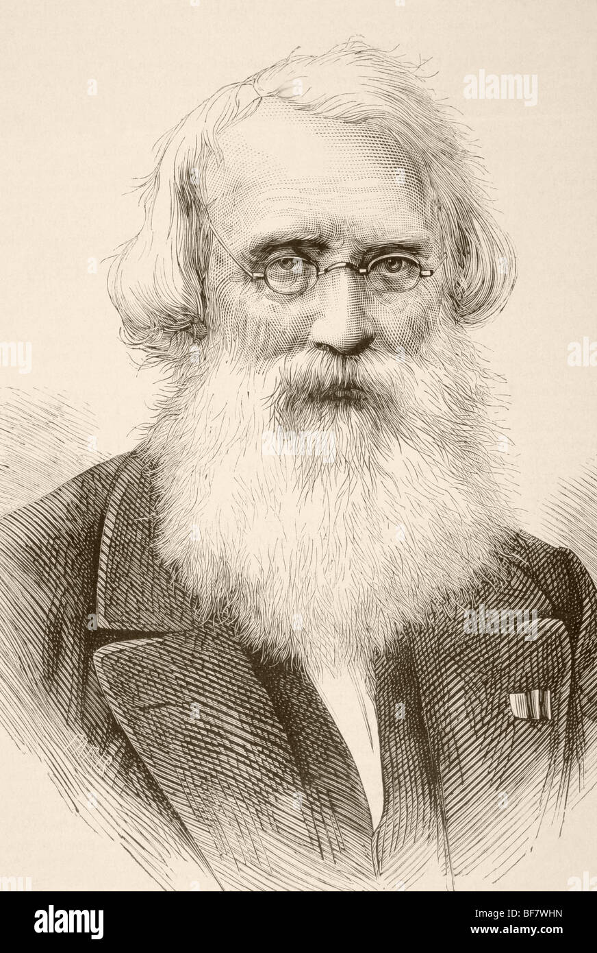 Samuel Finley Breese Morse, 1791 to 1872. American inventor of single-wire telegraph system and Morse code. - Stock Image