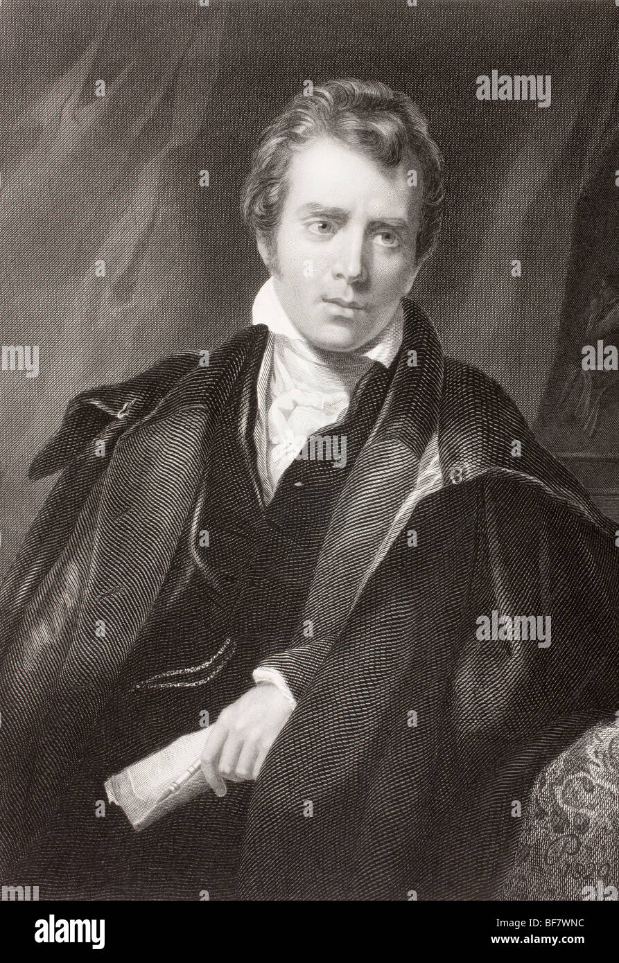 Sir David Wilkie, 1785 to 1841. Scottish artist. - Stock Image