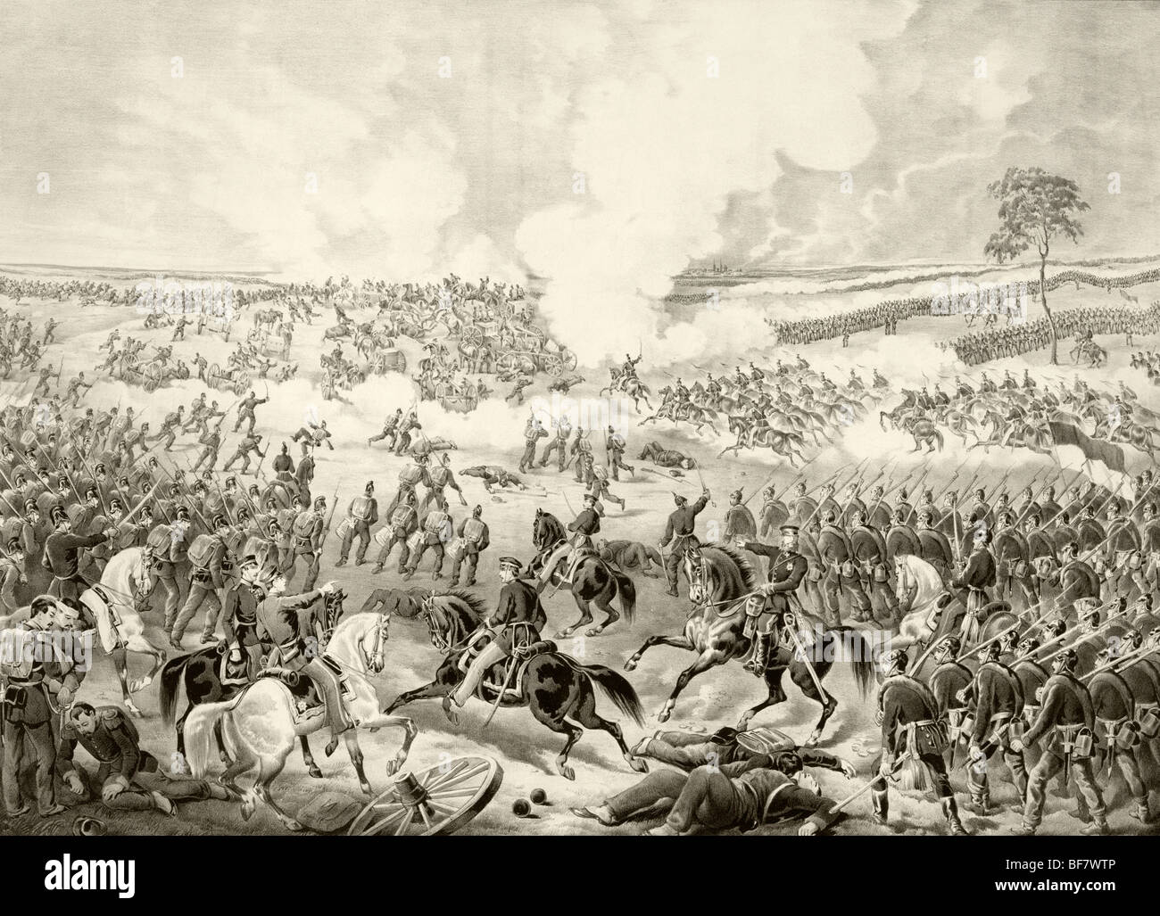 Battle of Wissembourg, August 4, 1870 during Franco-Prussian War - Stock Image