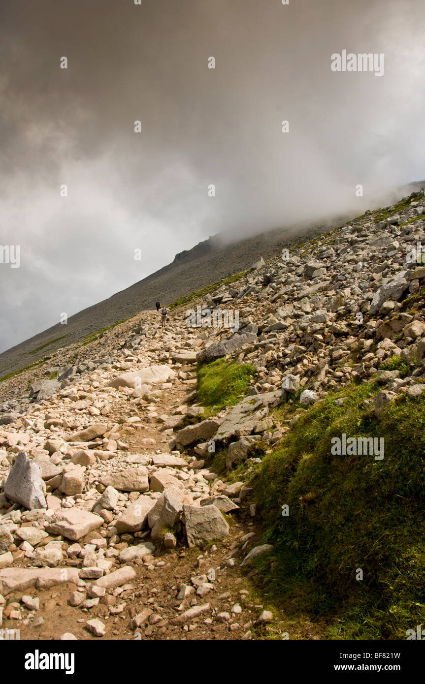 The ascent of Ben Nevis. - Stock Image