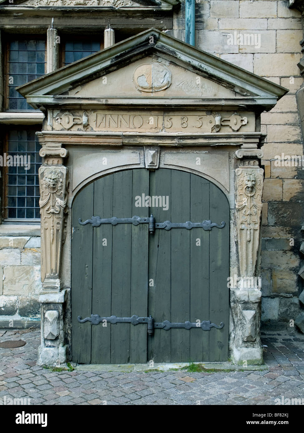 Cellar door in the castle courtyard of Kronborg Castle Elsinore Denmark. & Cellar door in the castle courtyard of Kronborg Castle Elsinore ...