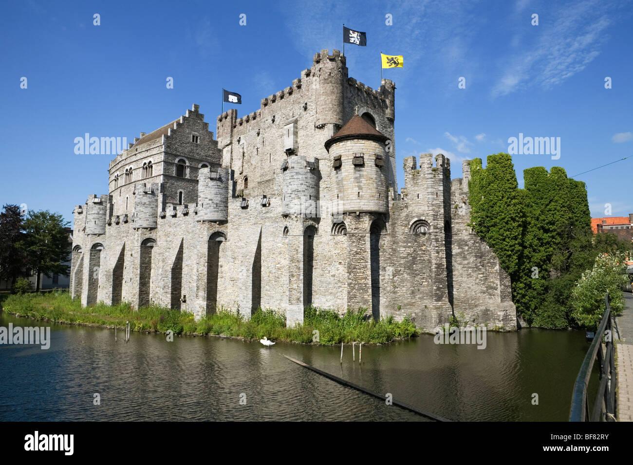 Gravensteen, castle of the Counts of Flanders. - Stock Image