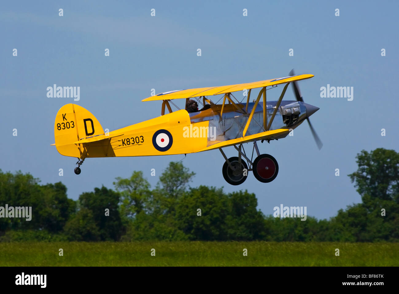 An Isaacs Fury biplane on take off - Stock Image
