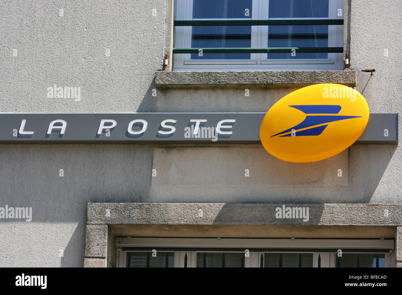 Office and logo of la poste the french postal service in the