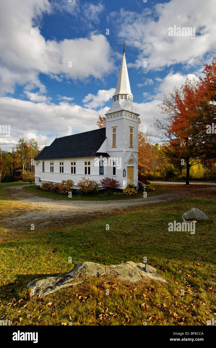 Saint Matthews Episcopal Church at Sugar Hill, New Hampshire - Stock Image