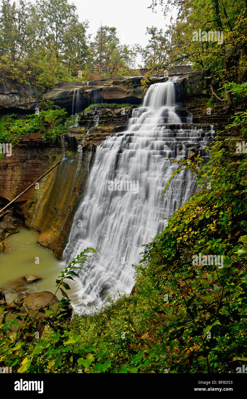 Brandywine Falls in Cuyahoga Valley National Park in Ohio - Stock Image