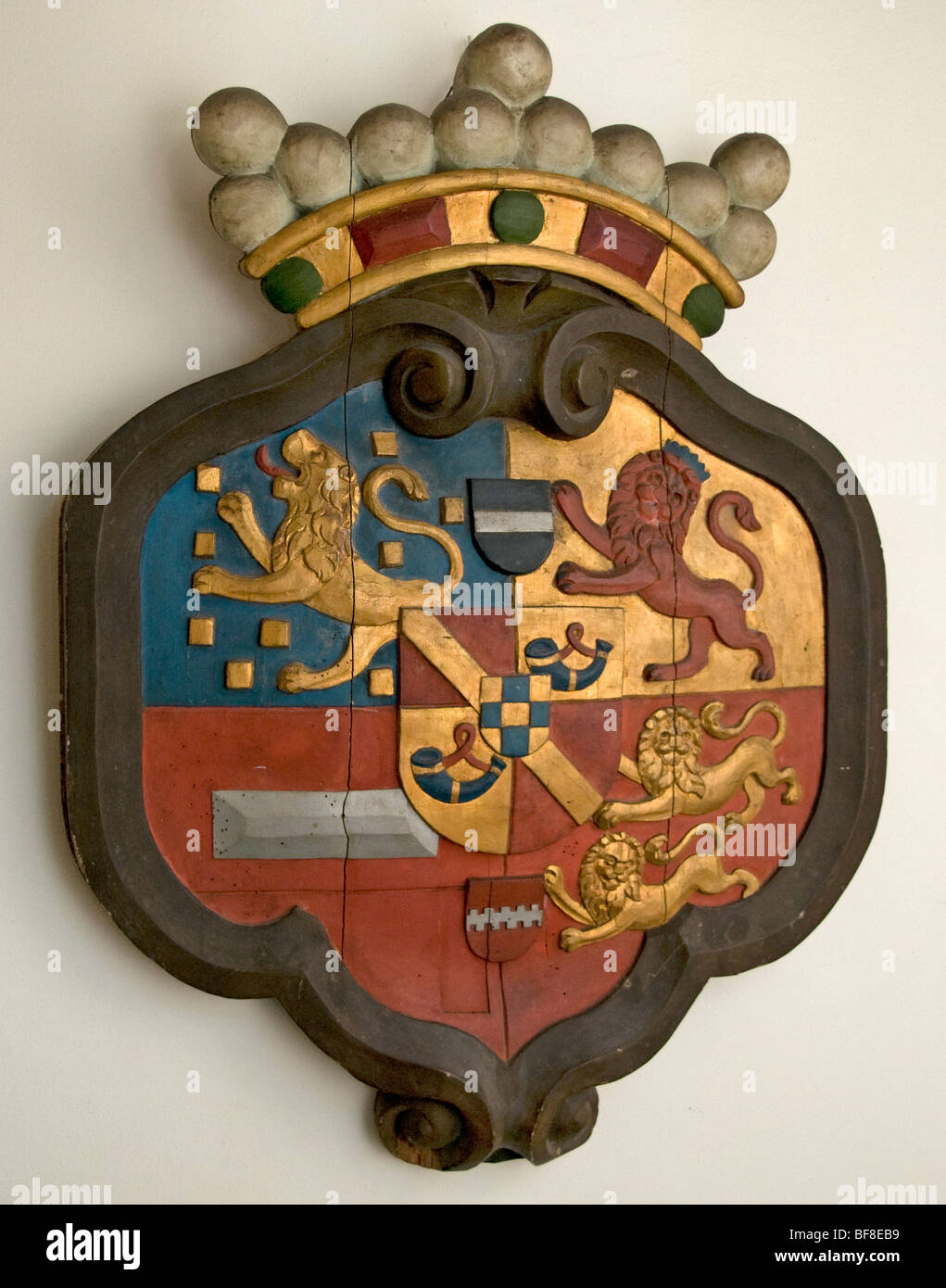 Netherlands Holland King Willem III 3 coat of arms - Stock Image