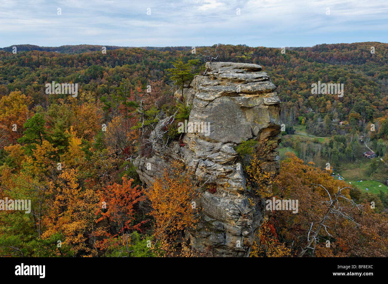 Autumn Color On Lovers Leap In Natural Bridge State Park