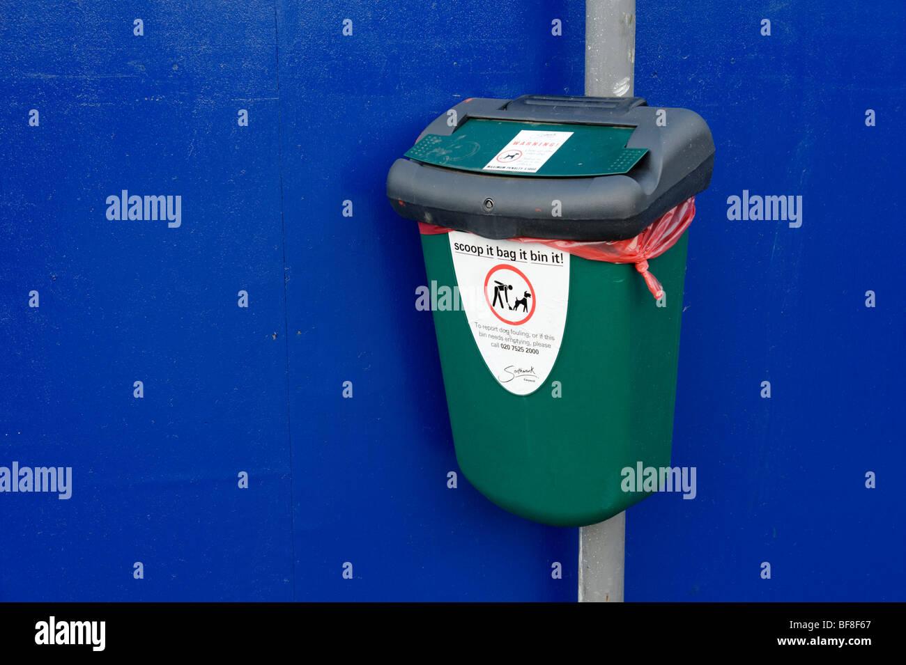 Dog waste bin. London. UK 2009. - Stock Image