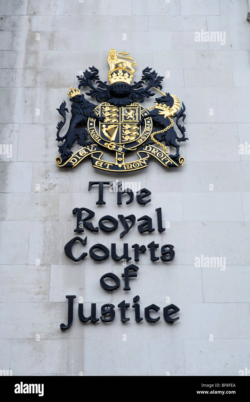 The Royal Courts of Justice. London. UK 2009. Stock Photo
