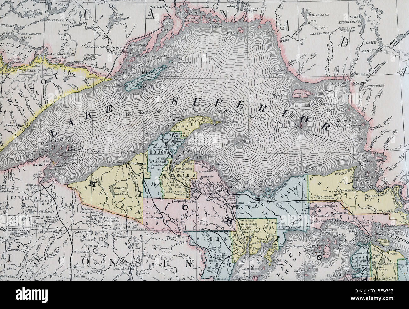 Great Lakes Map Stock Photos Great Lakes Map Stock Images Alamy