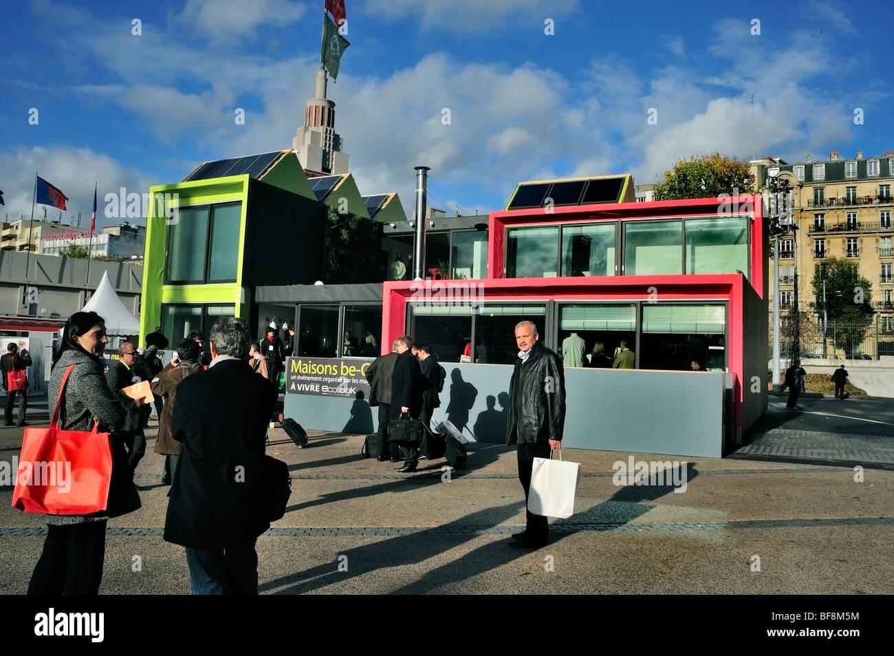 Paris, France, Construction Equipment Trade Show, Salon Batimat, Be-Green Eco House, Outside View - Stock Image