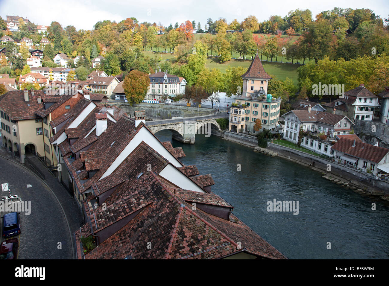 River Aare, medieval Bern - Stock Image