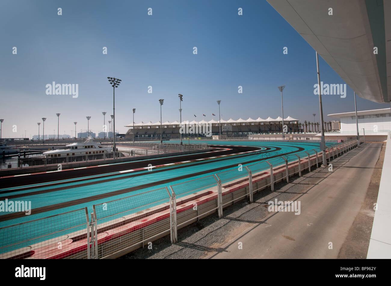 Abu Dhabi Yas Marina Formula 1 Grand Prix Race Track - Stock Image