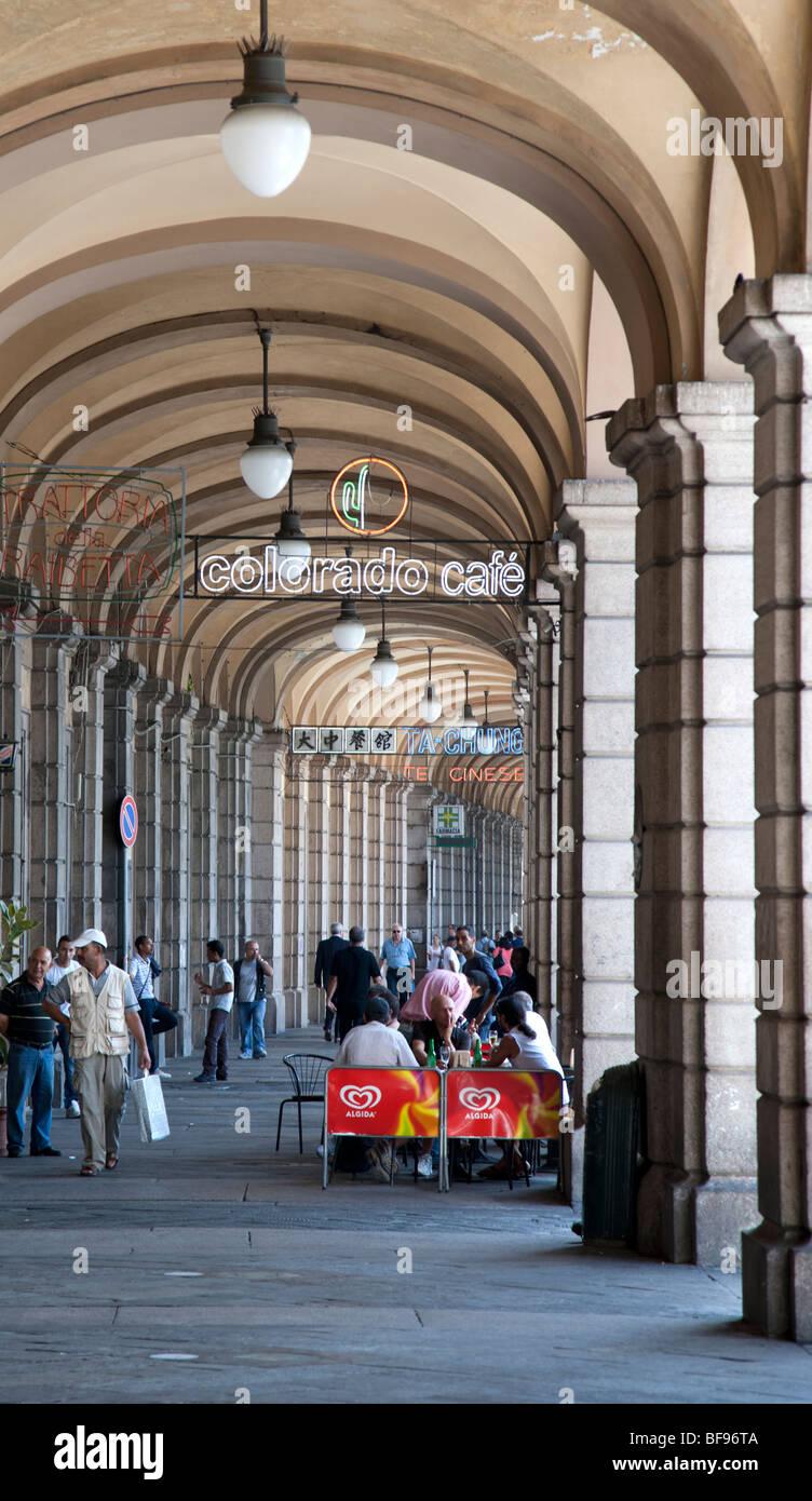 Shopping arcade, Genoa, Italy - Stock Image