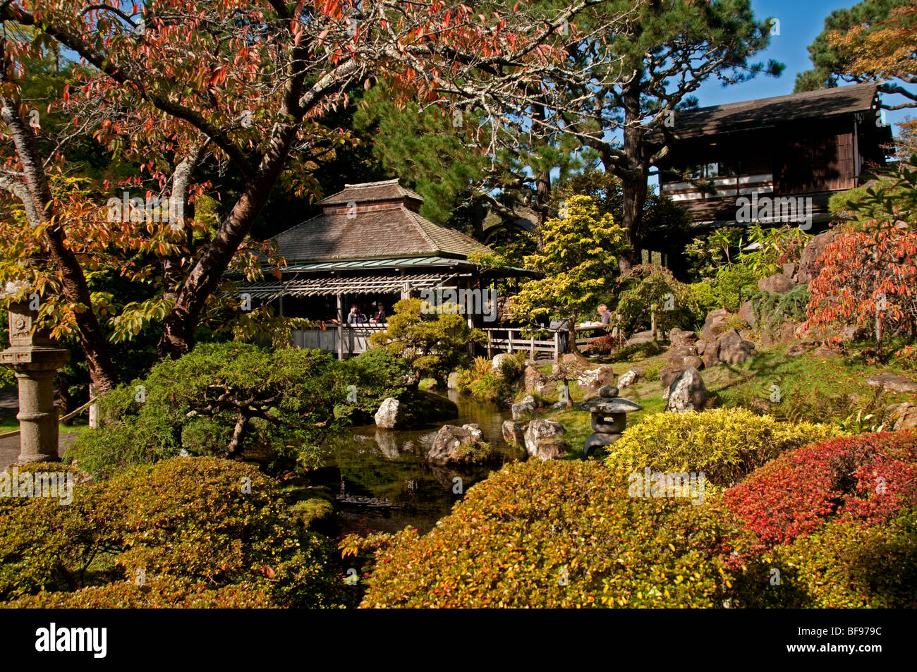 A fall day in the Japanese Tea Garden in San Francisco\'s Golden Gate ...