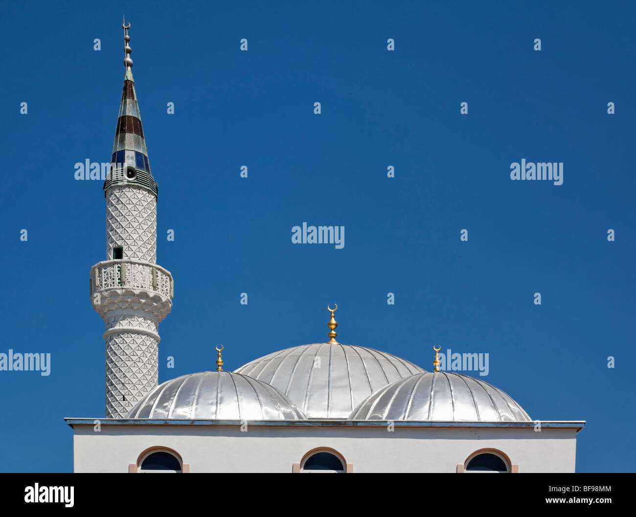 Roof detail on the Mosque in Kalkan, Turkey. - Stock Image