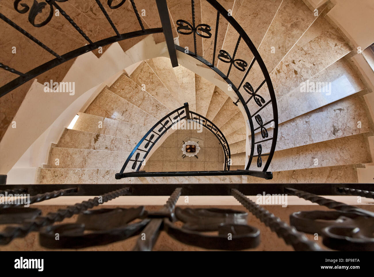 Staircase detail in a luxury villa in Turkey - Stock Image