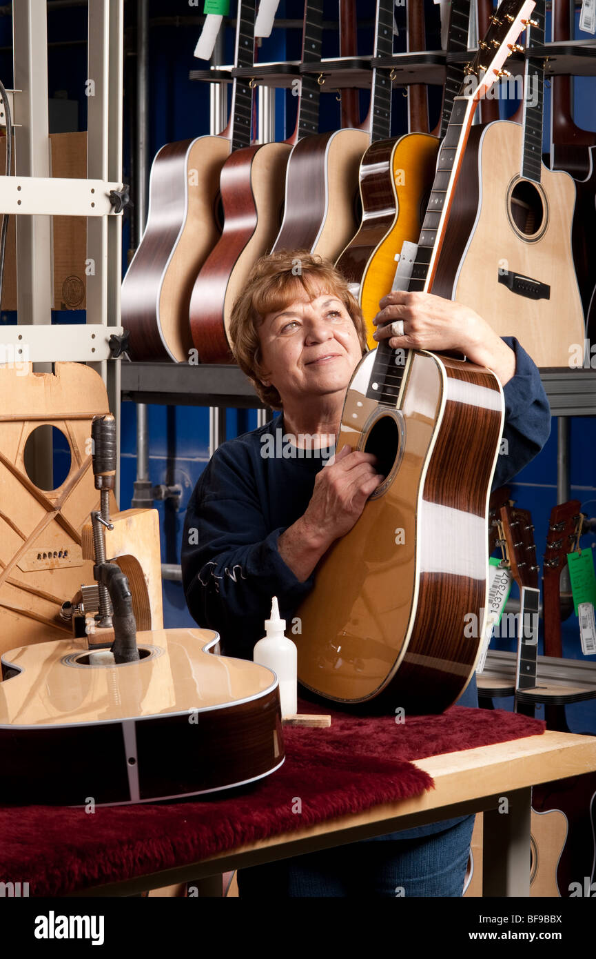 Guitar making , CF Martin Guitar factory Nazereth PA Stock