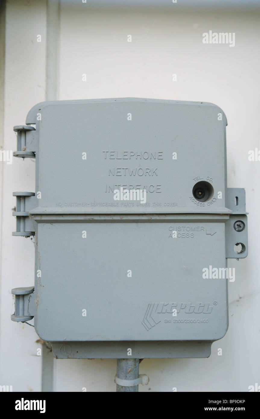 Telephone Nid Diagram Manual Of Wiring Interface Box Network Stock Photos Rh Alamy Com