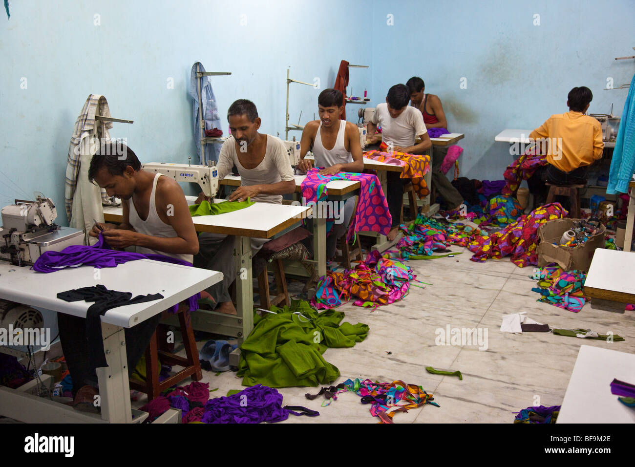 Garment factory in Pushkar in Rajasthan India - Stock Image
