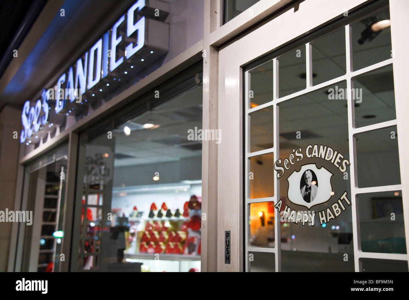 See's Candies store, Seattle, Washington - Stock Image