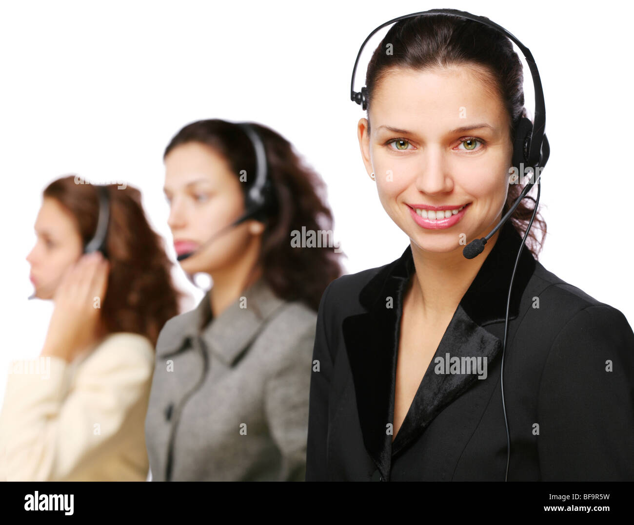 Customer support team during work. - Stock Image