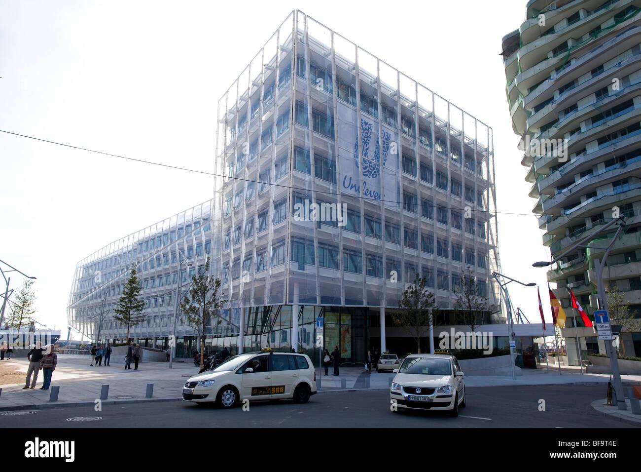 New Unilever European Headquarter in Hamburg, Germany - Stock Image