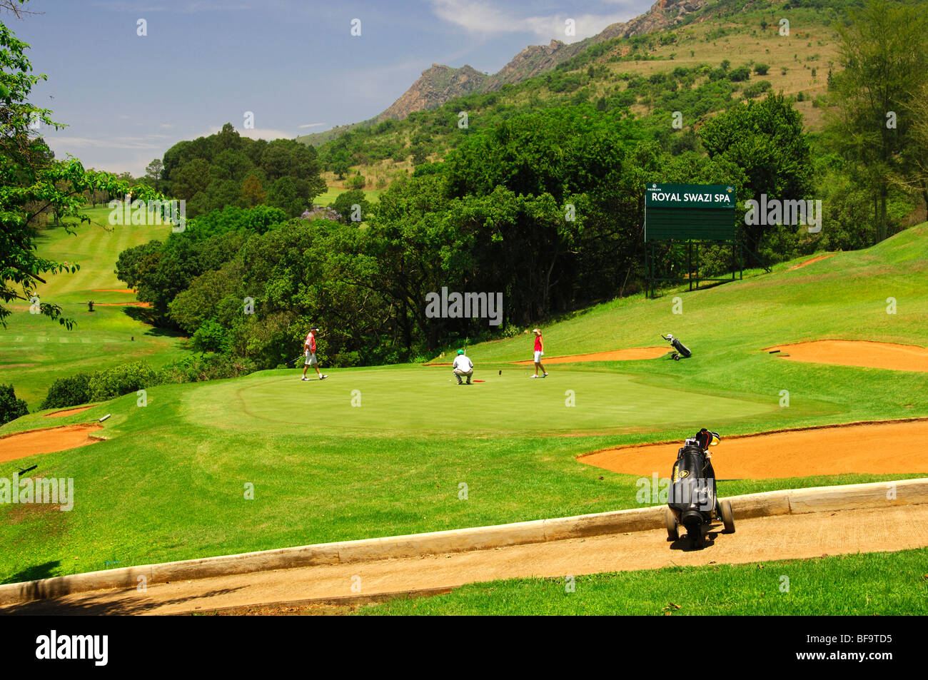 18-hole golf course of the Royal Swazi Spa Valley Resort, Ezulwini, Swaziland - Stock Image