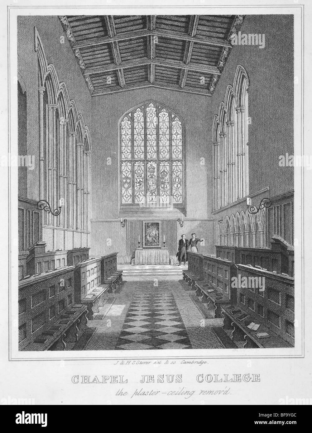 Jesus College, Cambridge – Chapel interior - Stock Image